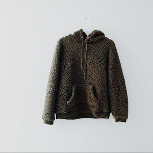 Olive Sherpa Sweatshirt
